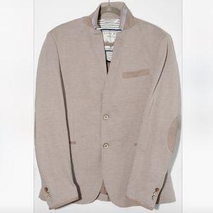 Zara Man Denim Couture Shoulder Pad Blazer USA 44